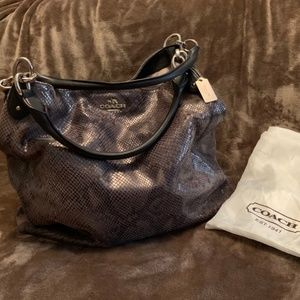 •SOLD• COACH LEATHER SUEDE SNAKESKIN BAG